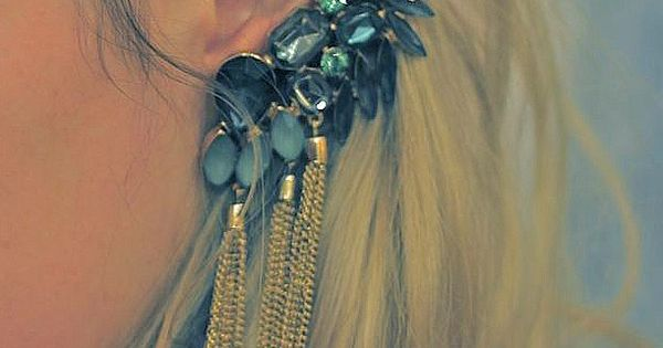 jewel / tassel ear cuff