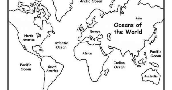 World Map Coloring Pages For Kids 5 Free Printable
