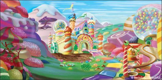 Children/'s Backdrop Wonka Birthday Backdrop Gingerbread House Photo Backdrop Child Birthday Party Backdrop Chocolate Factory