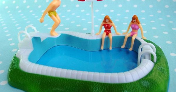 Not A Cake It 39 S A Swimming Pool Cake Topper Inspired By Layercakeshop Cool Pool Cakes