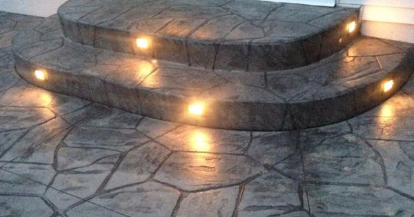 outdoor stair lighting lounge. great idea to embed lights into stamped concrete patiosteps for going out in the evening outdoor stair lighting lounge