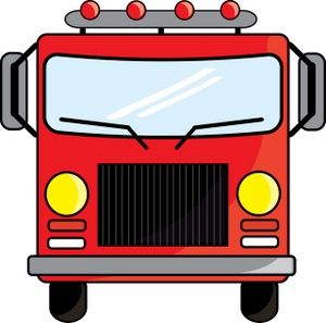 Firetruck Clipart Image Cartoon Of The Front Of A Firetruck