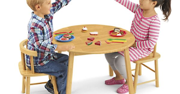 Butcher Block Table And Chair Set At Lakeshore Learning Table
