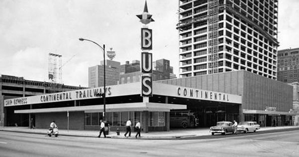 Continental Trailways Bus Station Houston 1960 Jpg 525 296 Historic Houston Downtown Houston Houston History