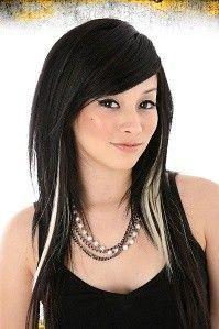 White Highlights Hair Highlights Black Hair With Highlights Hair Styles