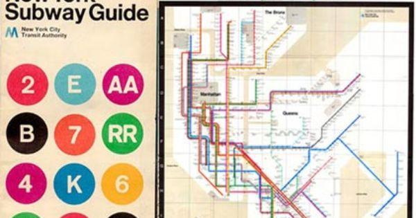 New York Subway Map Massimo Vignelli
