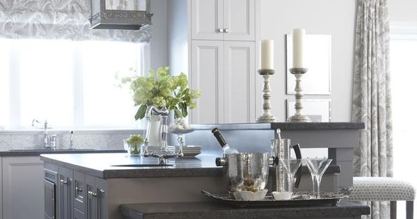 Sarah's House: Charcoal gray cabinets