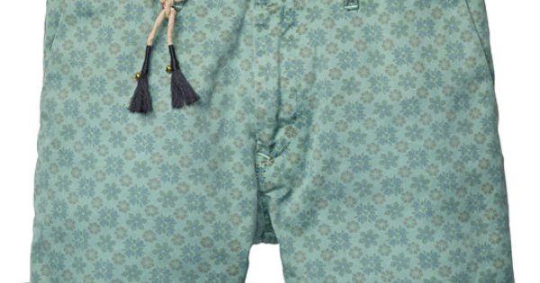 chino shorts mit allover print kurze hose. Black Bedroom Furniture Sets. Home Design Ideas