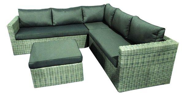 Loungeset kimberly is een prachtige loungeset extra comfort dankzij de ruim gevulde kussens en - Sofa vlechtwerk ...