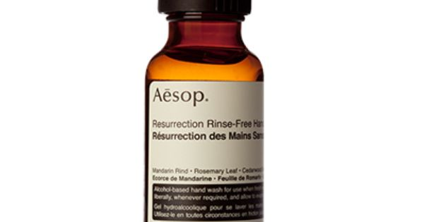 Evaporative Clear Gel Hand Sanitizer From Aesop Infused With