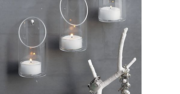 Wall mounted candle holder cb2 maybe as an alternative for Alternative candle holders