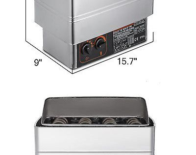 Electric Sauna Heater Stove Wet/&Dry SPA Stainless Steel 2KW Internal Control