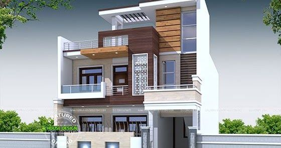 Decorative 5 Bedroom House Architecture House Cladding Architect Design House 30x50 House Plans House design north indian style
