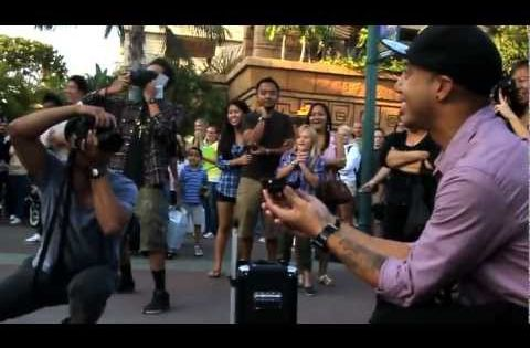 Jamin's Downtown Disney Flashmob Proposal Bruno Mars - Marry you