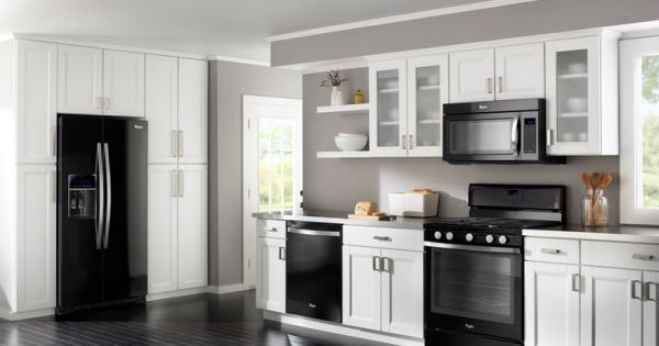 Gray Kitchen Cabinets With Black Appliances 13 amazing kitchens with black appliances (include how to decorate