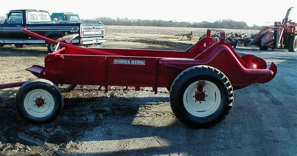 Working Manure Spreader : Antique ih mccormick manure spreader its only had one
