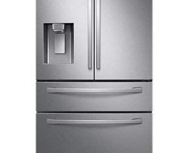 Samsung Rf28r7201sr Aa 4 Door French Door Refrigerator With Twin Cool Plus Stainless Steel Silver Size 28 French Door Refrigerator Cool Stuff Refrigerator