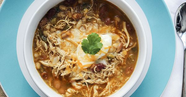 White bean chicken chili, Mom and This is awesome on Pinterest