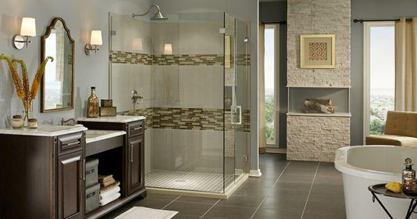Marvelous Badideen Badezimmerfliesen Wandspiegel Beistelltisch Badleuchten   Bathroom    Pinterest   Search