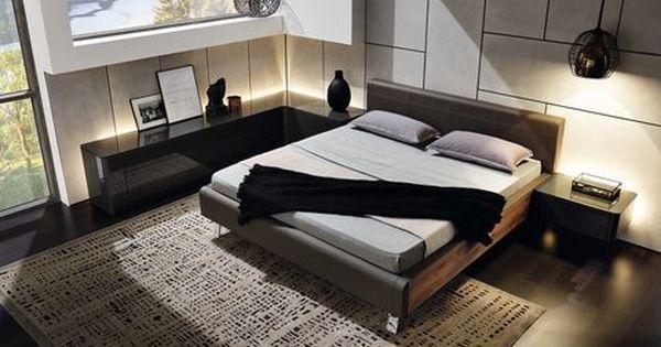 Hulsta Gentis Schlafzimmer Mit Beimobeln In Lack Hochglanz Grau