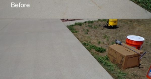 Rust removal product for concrete end of driveway ohio for Clean rust off concrete patio