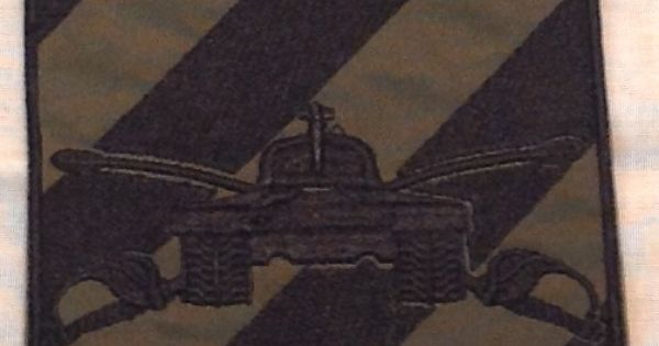 Tank gunnery qualification patch from 3rd infantry for Table 6 gunnery
