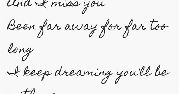 Lyrics to the song far away by nickelback
