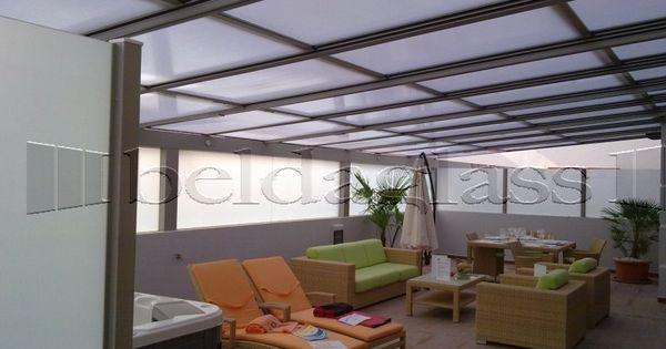 Terraza cubierta con techo movil de policarbonato - Cubierta para pergola ...