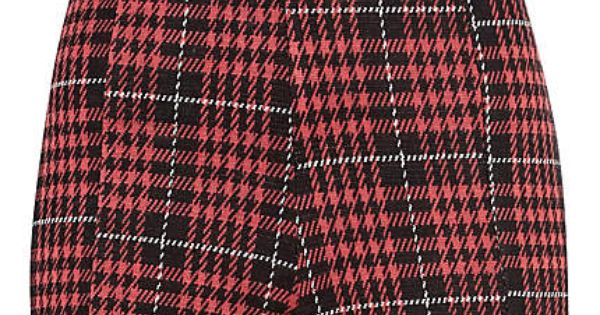 PLAID PINK DESIGN PRINTED FABRIC LYCRA JERSEY SPANDEX FROM £12.99 PER METRE