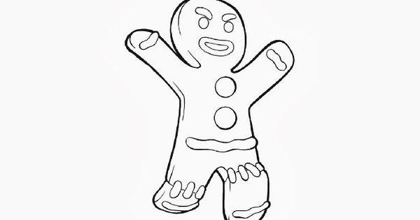 Shrek Gingerbread Man Coloring Pages Image