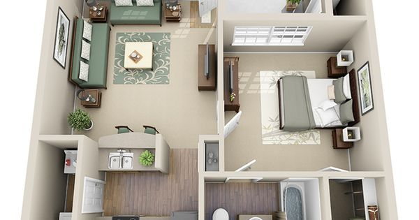 1 2 And 3 Bedroom Apartments In Littleton Co Floor Plans 1br 875 662 Sq Ft Apartment