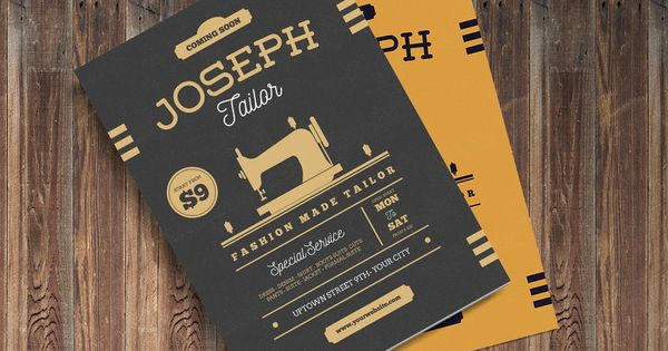 Vintage Tailor Shop Flyer By Guuver On Envato Elements Flyer Tailor Shop Flyer Template