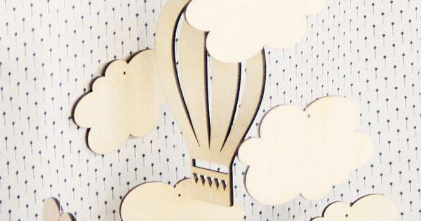 air ballon mobile nursery room mobile mobile b b. Black Bedroom Furniture Sets. Home Design Ideas