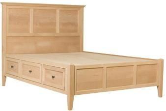 Unfinished Bedroom Furniture Bed Frame With Storage Storage Bed