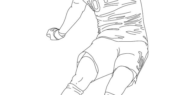 Coloriage karim benzema a fond le foot pinterest football and sports - Footballeur a colorier ...