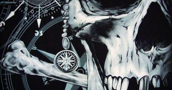 pin von tim fifield auf clown and skull tattoos pinterest piraten sch delkunst und totenk pfe. Black Bedroom Furniture Sets. Home Design Ideas