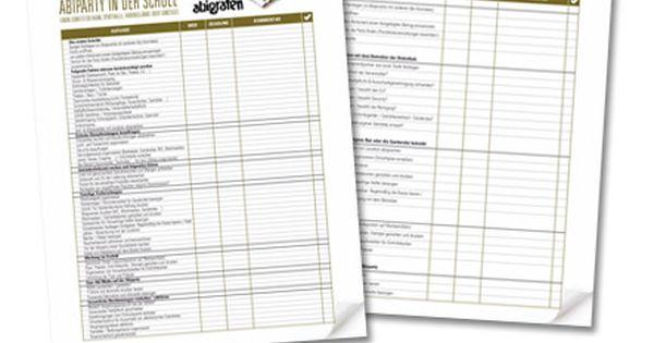 checkliste  abiparty  abifete