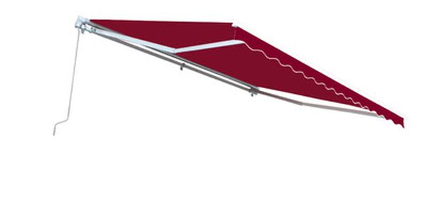 Aleko 13 Ft W X 10 Ft D Retractable Patio Awning Color Burgundy Retractable Awning Patio Awning Outdoor Shade