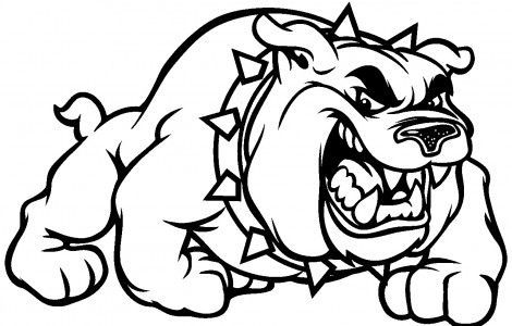 Bulldog Coloring Pages For Kids Coloringpageskid Com Bulldog Clipart Bulldog Cartoon Bulldog