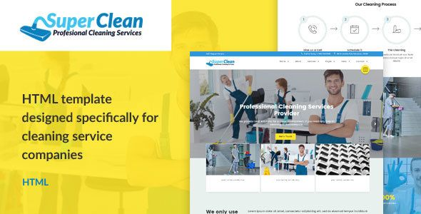 Super Clean Is Designed For Cleaning Services Laundry Washing