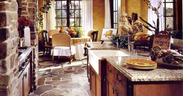 Tuscan Kitchen Decor Ideas Tuscan Style Flooring Crazy