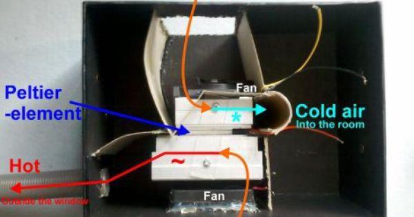 Poor Man S Peltier Air Conditioner Air Conditioner Diy Air