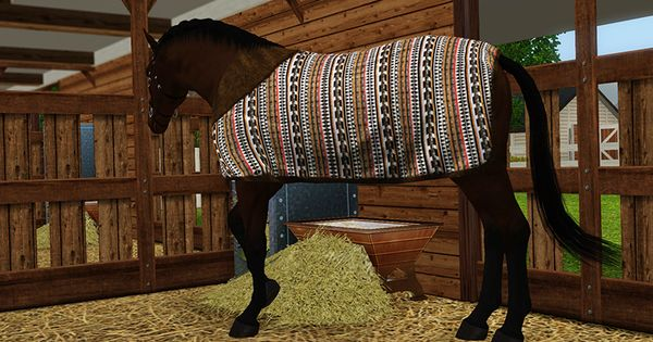 My Sims 3 Blog Stable Blanket For Horses By Equus Sims Sims Pets Sims Sims 4 Pets