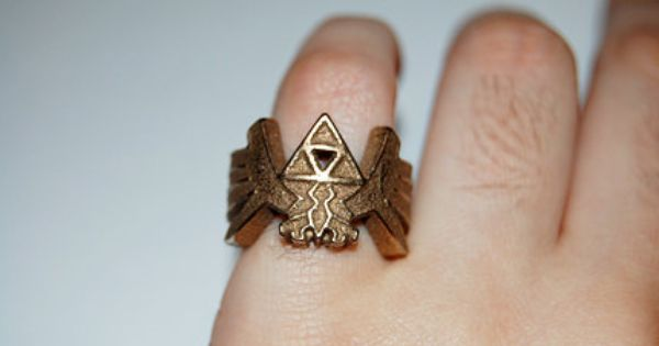 The Legend of Zelda Triforce Ring. loved that game!