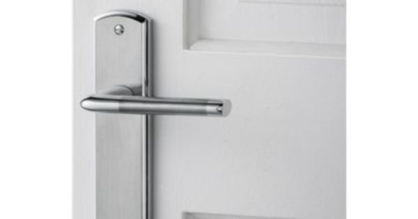 Alina Lever Latch Door Handle Satin And Polished Chrome