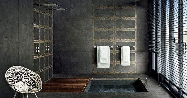 Versace Habille Vos Salle De Bain Et Pas Que Idee Salle De Bain Idees Baignoire Salle De Bain Contemporaine