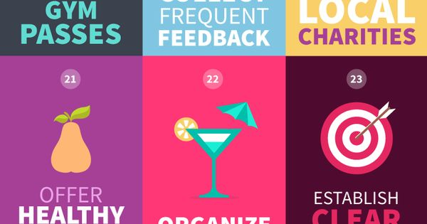 Infographic: 38 Employee Engagement Ideas Your Team Will Love - DesignTAXI.com