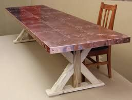 Image Result For Sheet Metal Project Ideas Copper Top Table