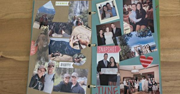 Diy One Year Anniversary Scrapbook Anniversaries