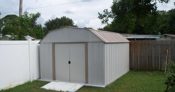 Arrow Dakota 10 Ft X 14 Ft Steel Shed Dk1014 At The Home Depot Mobile Steel Sheds Shed Shed With Loft